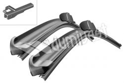 """Stergatoare Aerotwin A925S 530/530mm 21""""/21"""" Bosch"""