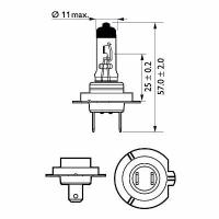 Bec H7 12V 55W PX26d PREMIUM+30% putere iluminare
