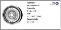 5X120 6.5X16 ET51 65.0 JANTA OTEL
