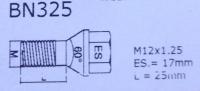 12x1.25X25 SW17 prez. con drept 60°
